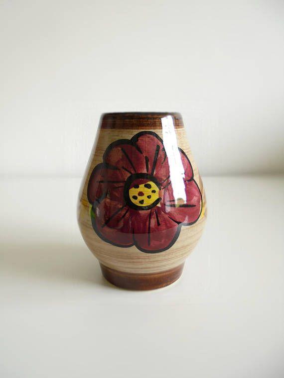 West Duits keramiek vaas aardewerk vaas mid century modern
