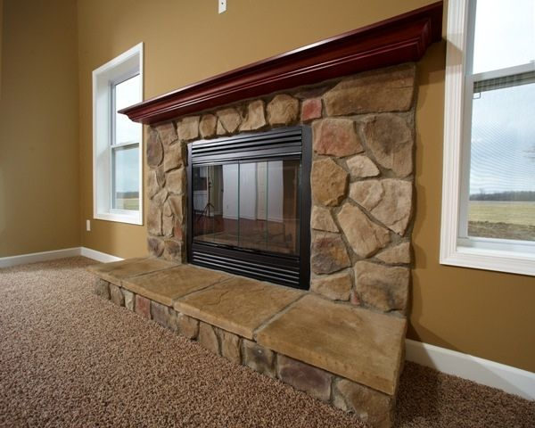 Fireplace with Stone Face   Hearth43 best Custom Fireplaces images on Pinterest   Wayne homes  . Stone Fireplace Hearths. Home Design Ideas
