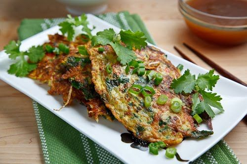 Egg Foo Young. - Meats can also be included and common ones include ham, shrimp, pork, beef and/or chicken but you can easily keep it vegetarian by sticking with just the vegetables and padding them out with mushrooms.