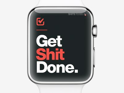 get shit done DARK - on your apple watch with the ios app!
