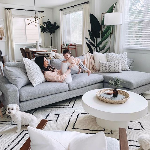 Living Room Reveal With Article In 2020 Grey Couch Living Room