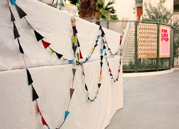 Steve prefers this kind of fabric garland. Works for me! I can use smaller scraps!