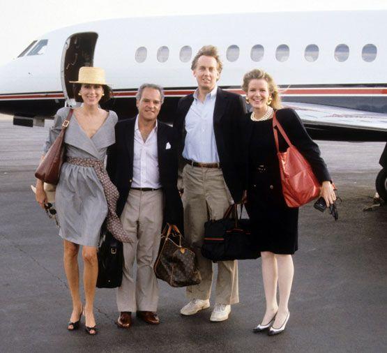 Carolyne Roehm, Henry Kravis, Blaine and Robert Trump