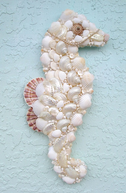 Seahorse of shells...so fun to find some of my older work on Pinterest!