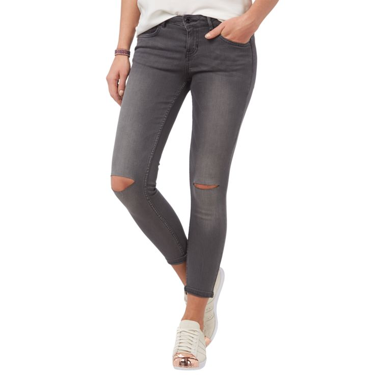 | Tom Tailor Denim Extra Skinny Jeans im Destroyed Look – verkürzt für Damen