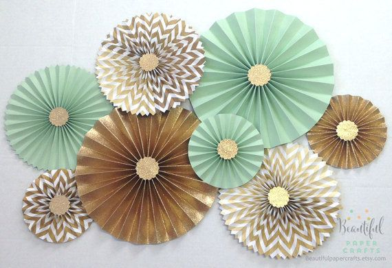 Mint Green Loves Gold Glitter Gold by BeautifulPaperCrafts