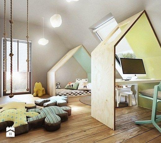 Mokronos - Duży pokój dziecka dla chłopca dla malucha, styl nowoczesny - zdjęcie od razoo-architekci
