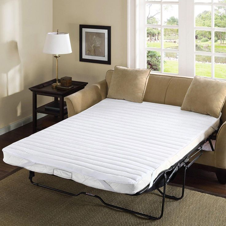 Comfort Classics Frisco Polyester Microfiber Sofa Bed Pad, White