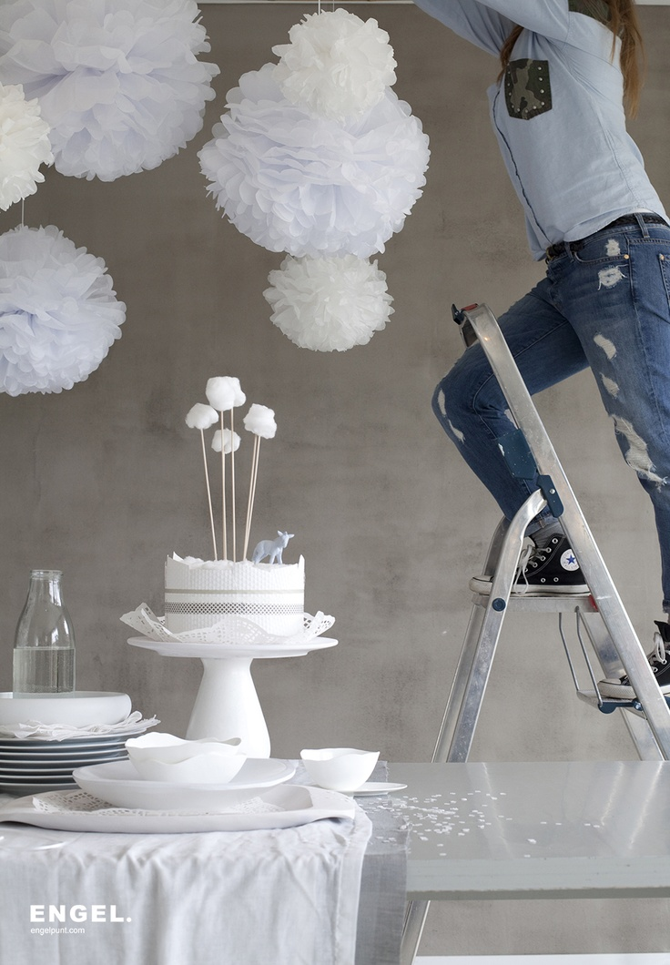 Picture of our new product pom white by ENGEL. Styling: Studio thuis & Dony design. Photography by Nick Kidman