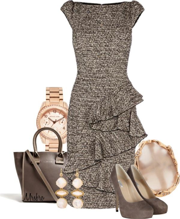"""Frill Dress ..."" by mrsbro on Polyvore"