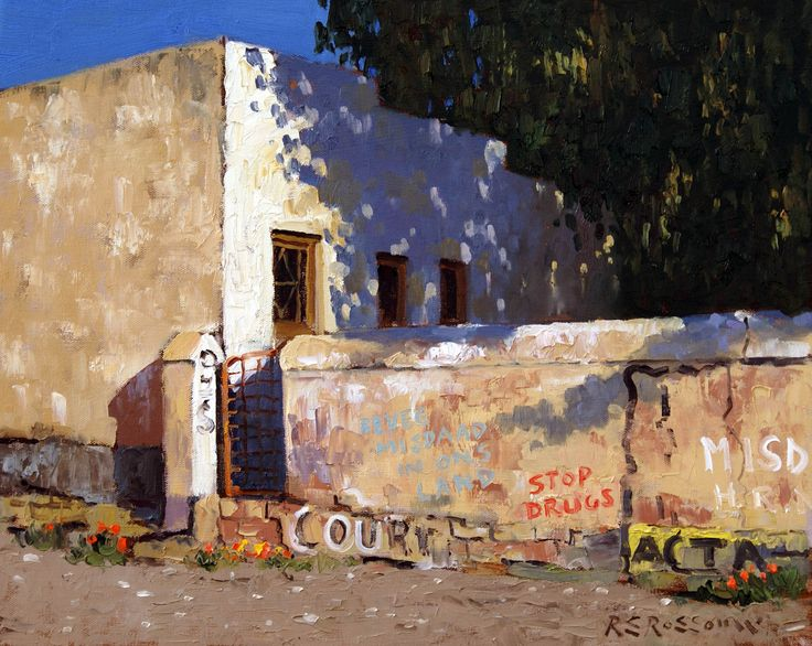 Local Graffiti Carnarvon. Artist: Roelof Rossouw Oil on canvas, unframed – size: 40x50cm.Price Unframed: ZAR 13,500./  Framed – size: 60x70cm.  Price Framed: ZAR 15,500. Painting can be purchased on our shopping cart at www.aficaskygallery.com Contact Email: info@africaskygallery.com
