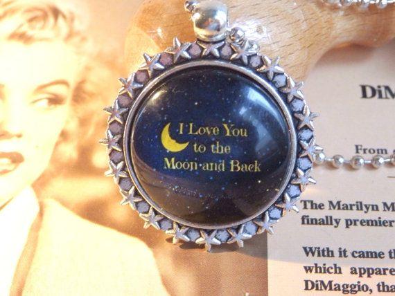 Galaxy pendant nature jewelry glass pendantI love by LeFuCycliste