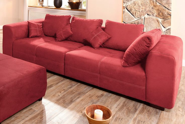 Premium Collection By Home Affaire Big Sofa Rot Maverick FSCR Zertifiziert Jetzt Bestellen Unter Moebelladendirektde Wohnzimmer Sofas