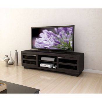 reid black 66 in television stand 399 costco. Black Bedroom Furniture Sets. Home Design Ideas