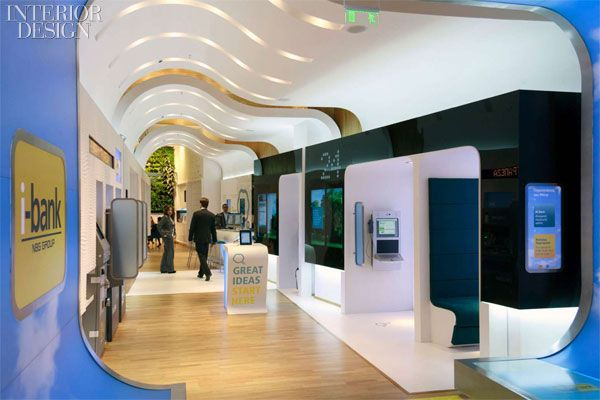 """Allen Internationl challenges the perception of personal banking with two new """"i-banks"""" for the National Bank of Greece. Photo courtesy of Allen International."""