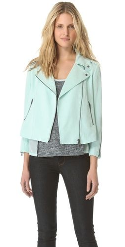 Club Monaco Ramona #Jacket in #Hottest color. Of the season #Mint.  perfect for those cool summer nights