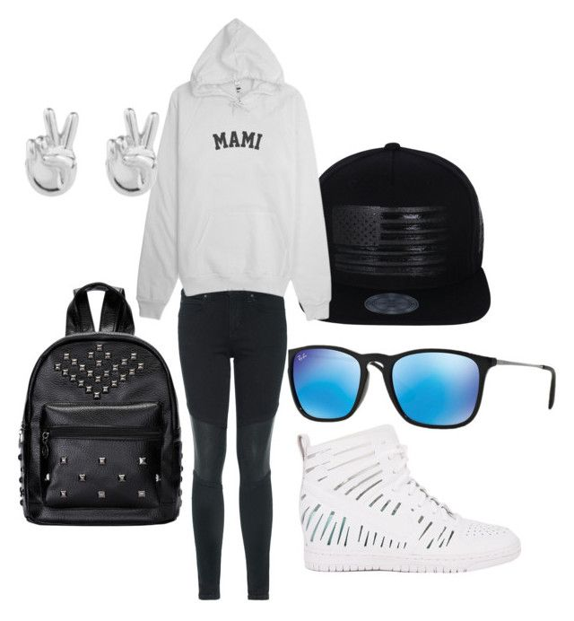 """""""Family day out"""" by karenangustia on Polyvore featuring NIKE, Ray-Ban, Joe's Jeans and Rock 'N Rose"""
