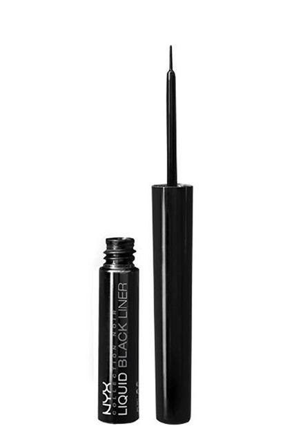 Best Waterproof Eyeliner - Smudge Proof Eye Makeup - Nyx Cosmetics Collection Noir Liquid Black Liner, $5.99,