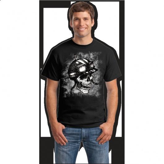 Craniu motociclist comanda tricouri