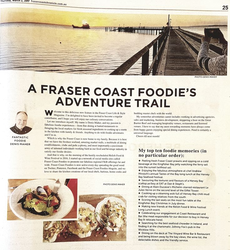 Nice story about the birth of foodies network FRASER COAST FOODIES in today's Adventure edition of the Fraser Coast Life & Style magazine in the Hervey Bay Observer & Maryborough Herald. #frasercoast_foodies #relishfrasercoast #visitqueensland #visitfrasercoast #discoverqueensland #thisisqueensland #fraser_coast_lifeandstyle #foodlover #foodblogger #yeschef