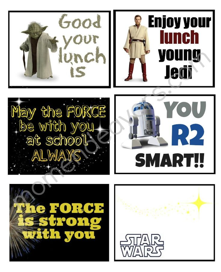 Star Wars Lunchbox Notes | Cool Mom Picks