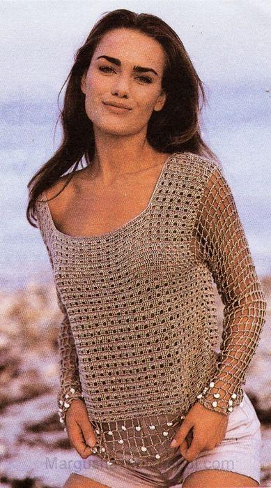 szydełko / bluzka / inspirações de Croche com Any Lucy: Blusa ♪ ♪ ... #inspiration_crochet #diy GB http://www.pinterest.com/gigibrazil/boards/