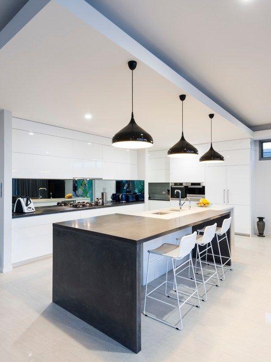 キッチン Broughton Residence L型レイアウト - アイランド1 一戸建て リフォーム インテリア実例