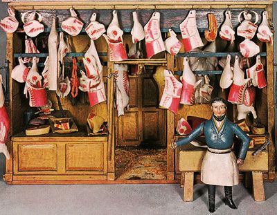 1800's model butcher shop