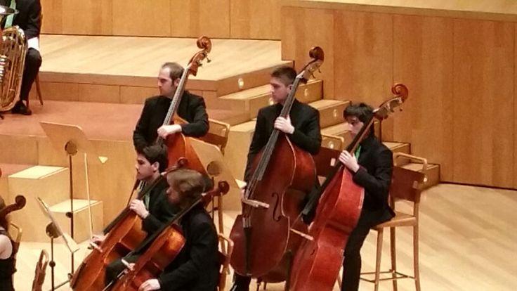 Sala Mozart Auditorio Zaragoza. Contrabajos OFUA marzo 2015