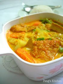 Peng's Kitchen: Lontong Sayur Lodeh/Mix Vegetable in Coconut Broth