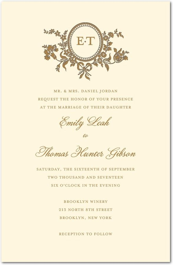 traditional style letterpress wedding invitations in ecru sarah