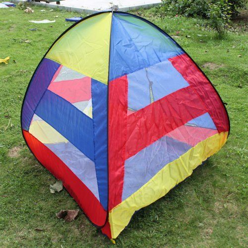 New 44.09 x 44.88 x 45.28in Indoor/Outdoor Children Games House Tent Mixed Colors by Crazy Cart. $20.59. Features: 1. With high-quality and eco-friendly materials, it is attractive, breathable and non-irritating  2. It is safe, reliable and easy to fold 3. Easy to clean, you just need to gently wipe dirt with a damp cloth 4. Easy to use, the roof can be taken down 5. The curtain can be rolled up, which extends the play space 6. High-density and anti-mosquito gauz...