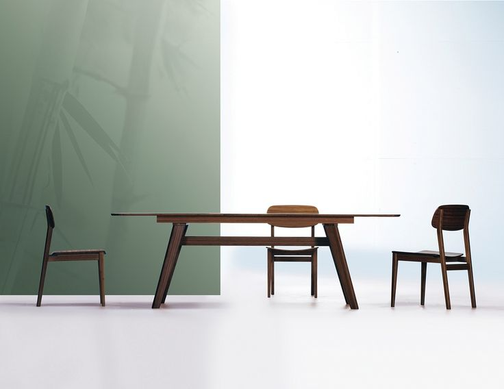 Mid Century Modern Bamboo Wood Dining Room Set With