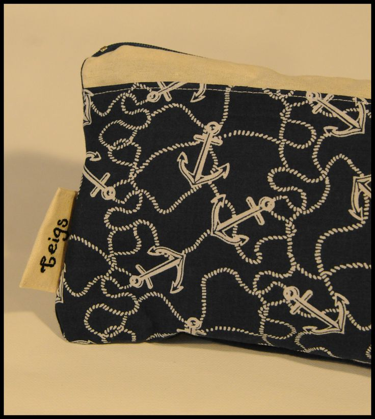 Navy anchor, personalised for Teigan