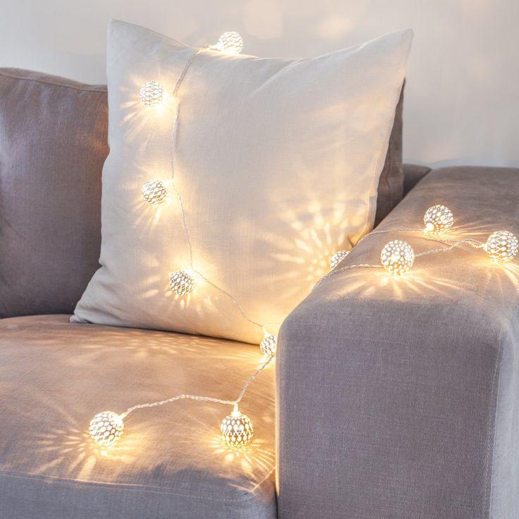 16er LED Lichterkette silberne Kugeln Marokkanische Lichterkette 24V: Amazon.de: Beleuchtung