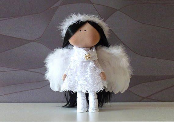 Кукла Ангела / Текстильная кукла / Кукла из ткани / Уникальная кукла /