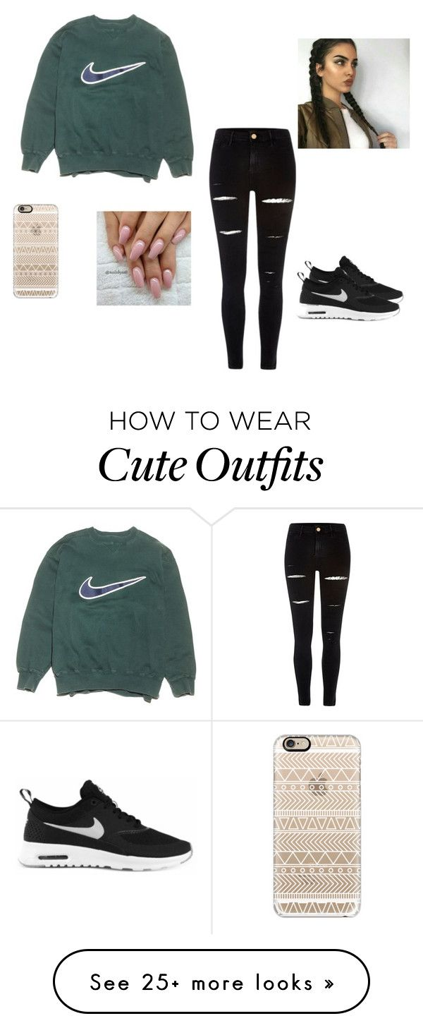 """A Super Cute Outfit"" by andreamendez21 on Polyvore featuring NIKE, River Island and Casetify"