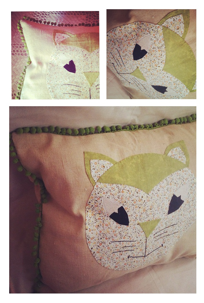 ..: Applique Cat, Cute Cats, Cat Pillows, Cat Cushions