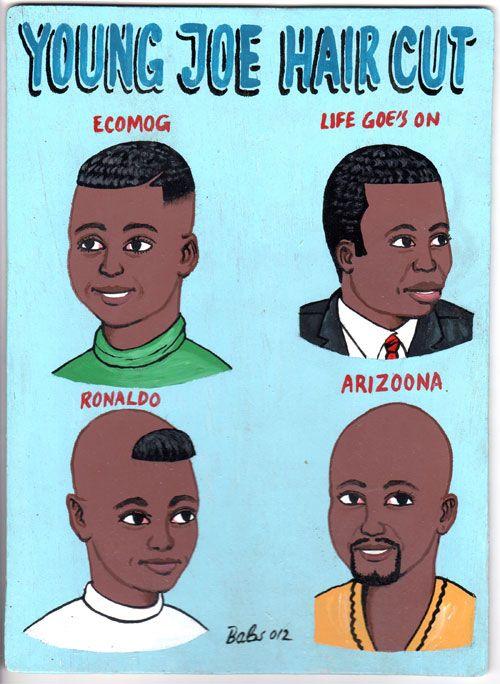 Indigo Arts Gallery   African Barber Signs   Burkina Faso
