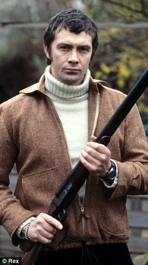 Lewis Collins as tough guy Bodie in the 1970s show, The Professionals. R.I.P.