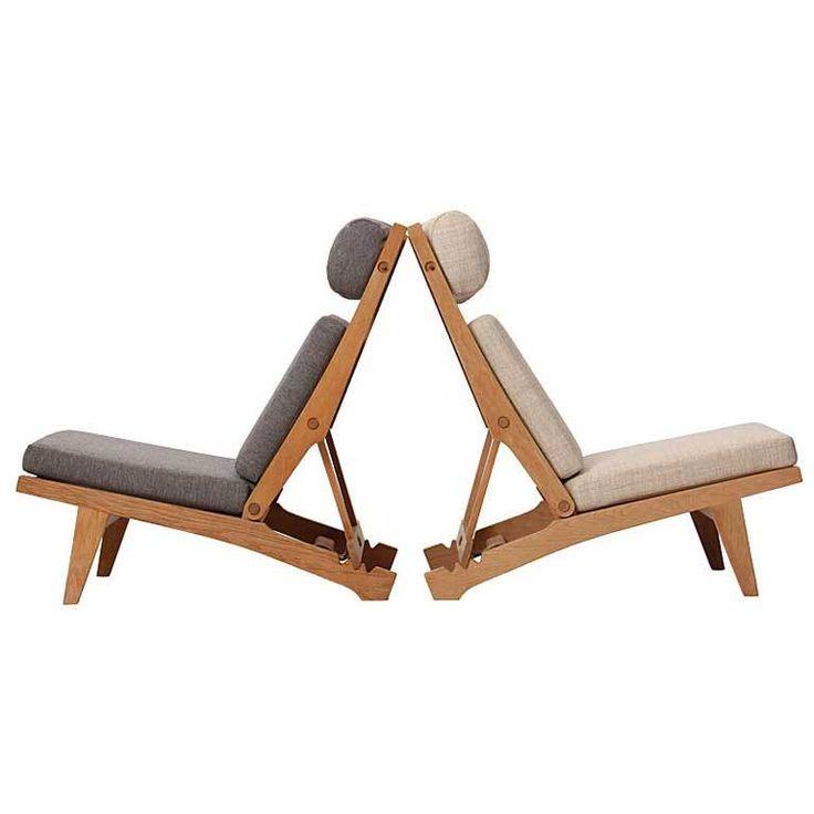low lounge chairs - hans j. wegner - denmark - 1968 - height: 36.5 in. (93 cm)  depth: 38 in. (97 cm)  width/length: 24.5 in. (62 cm) - via wyeth dealer ref. : No. 8549  ref. : U12102989031293 - 8500/e usd