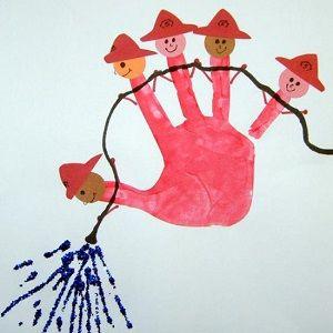 idée pour empreinte de main enfant
