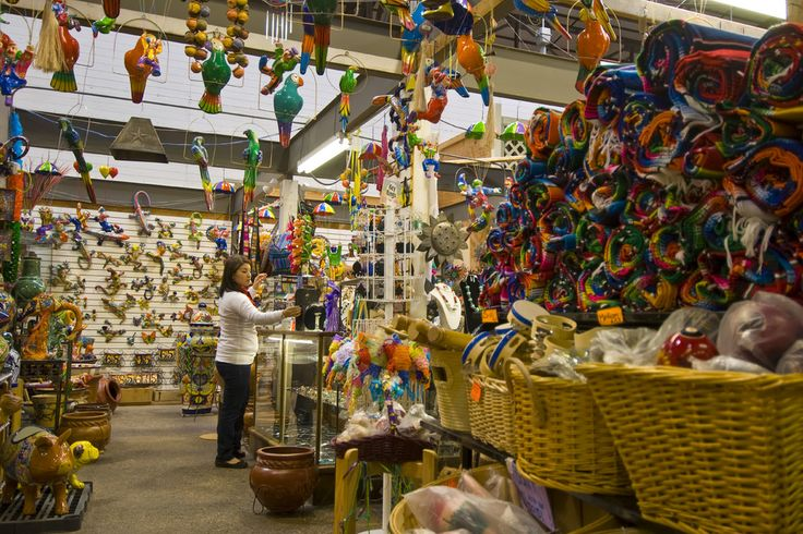 El Mercado, This is the largest Mexican marketplace outside of Mexico. With over 25 different shops and vendors, you can do some of your best bargain hunting. Items range from glassware, leather goods, vanilla, and other colorful treasures.