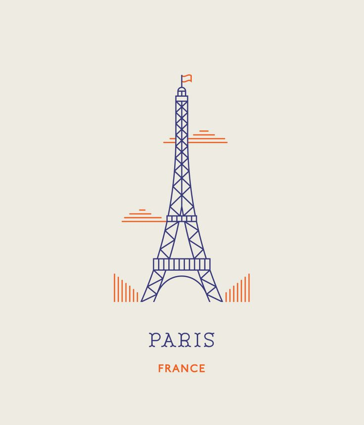 Line Icons of the World's Most Famous Landmarks