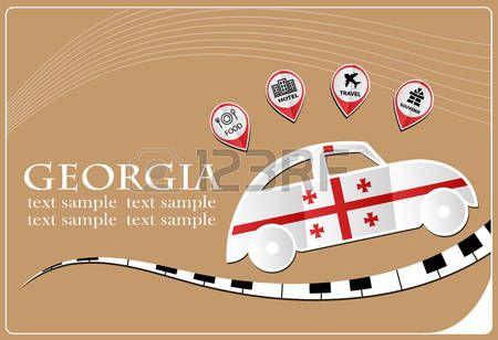 icono del coche a partir de la bandera de Georgia