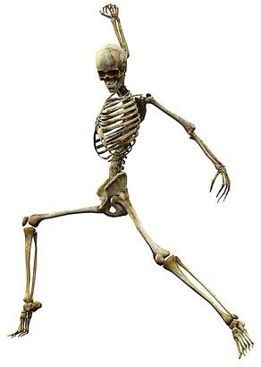 Skeleton reference, dancer.