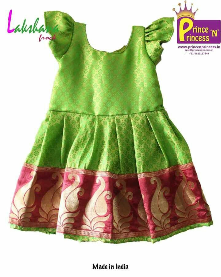 kids Light green with big border frock .. available soon at www.princenprincess.in