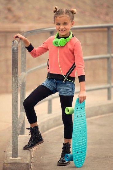 Vierra Rose Biker Girl Shorts with Leggings | Little Skye Children's Boutique