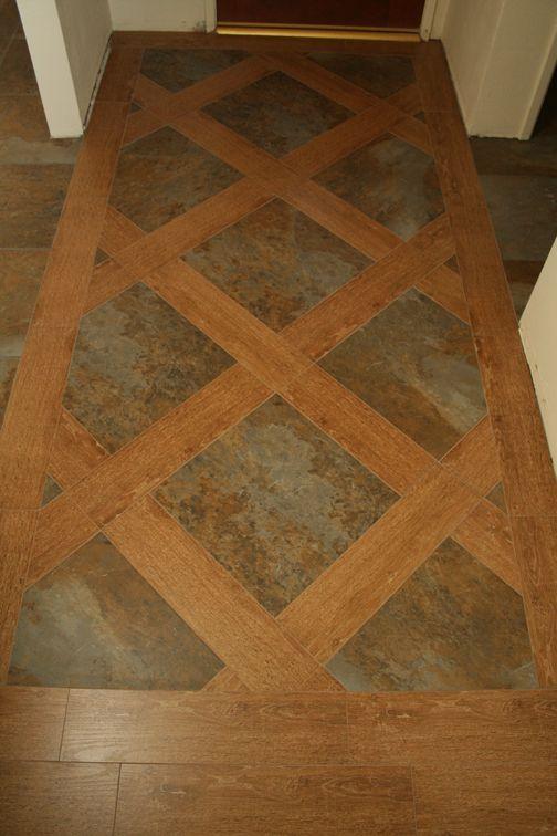 Tehachapi Tile | Photo Gallery - Porcelain tile resembling wood and slate.