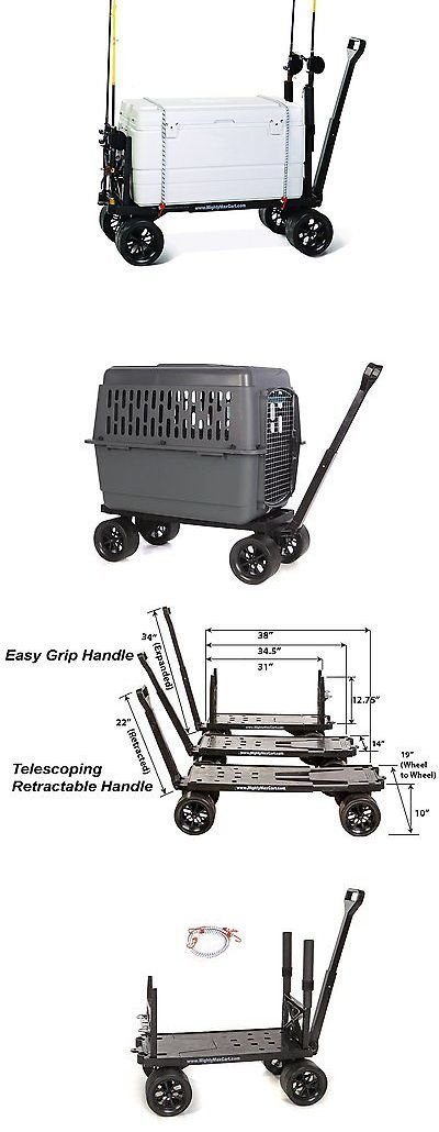 Fishing Carts and Wagons 179993: Sports Fishing Utility Beach Cart Pull Wagon 4 Wheel Camping Garden Adjustable BUY IT NOW ONLY: $247.99